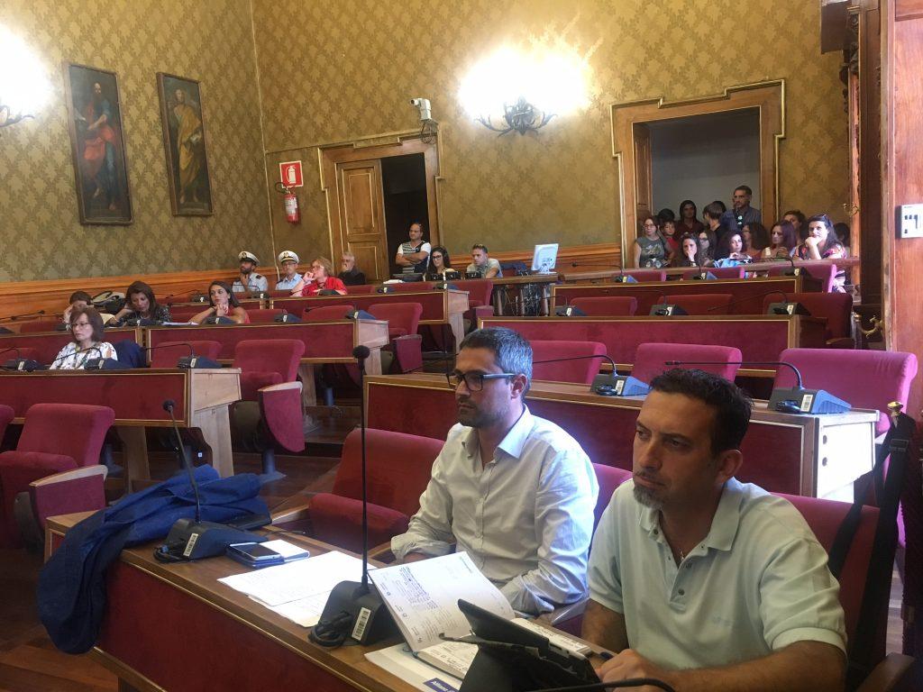 I consiglieri comunali Pd Mario D'Asta e Mario Chiavola